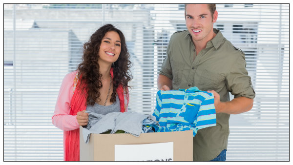 a couples charitable contributions of clothes